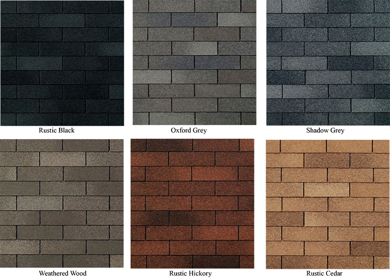Shingle color choices